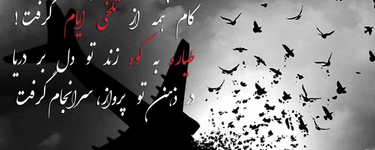 عکس و شعر سقوط هواپیمای تهران یاسوج